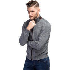 Sweter LADISLAO SWPR000197. Szare swetry rozpinane męskie marki Giacomo Conti, na jesień, m, z bawełny. Za 249,00 zł.
