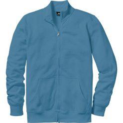 Bluza rozpinana bonprix niebieski dżins. Niebieskie bejsbolówki męskie bonprix, l, z dresówki. Za 59,99 zł.