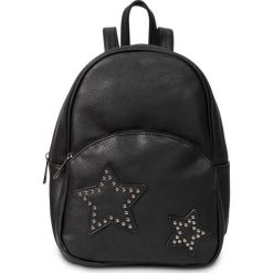 """Mały plecak """"Gwiazda"""" bonprix czarny. Czarne plecaki damskie bonprix, z aplikacjami, eleganckie. Za 74,99 zł."""