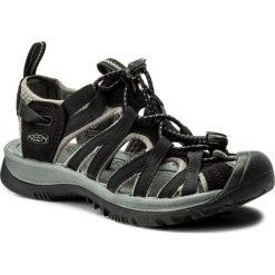 Sandały KEEN - Whisper 1003709 Black/Gargoyle. Czarne sandały damskie marki Keen, z materiału. W wyprzedaży za 259,00 zł.