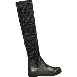 Kozaki - 18134 A20 NER. Czarne buty zimowe damskie Venezia, ze skóry. Za 299,00 zł.