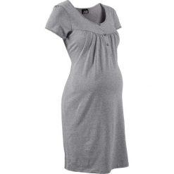 Koszula nocna ciążowa i do karmienia bonprix jasnoszary melanż. Szare bielizna ciążowa bonprix, melanż, z bawełny, moda ciążowa. Za 44,99 zł.