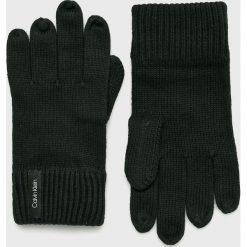 Calvin Klein - Rękawiczki. Czarne rękawiczki męskie Calvin Klein, z bawełny. Za 159,90 zł.