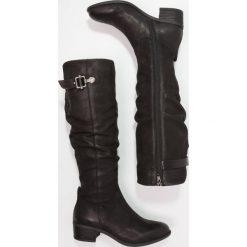 SPM OKKIE Kowbojki i Buty motocyklowe black. Czarne buty zimowe damskie marki SPM, z materiału. W wyprzedaży za 441,75 zł.