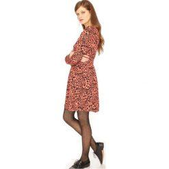 Długie sukienki: Sukienka krótka, wzorzysta, rozszerzana, rozkloszowana