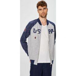 U.S. Polo - Bluza. Szare bluzy męskie rozpinane marki U.S. Polo, l, z aplikacjami, z bawełny, bez kaptura. W wyprzedaży za 449,90 zł.