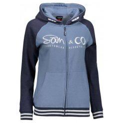 Sam73 Damska Bluza Wm 730 230 S. Szare bluzy rozpinane damskie sam73, s, z napisami, z kapturem. Za 159,00 zł.