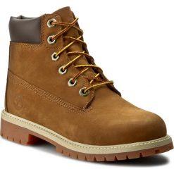 Trapery TIMBERLAND - 6 In Prem 14949 Rust Nbk/Brown. Brązowe buty zimowe chłopięce Timberland, z materiału. W wyprzedaży za 369,00 zł.
