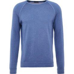 Drumohr FELPA Sweter blue. Białe swetry klasyczne męskie marki Bambi, l, z nadrukiem, z okrągłym kołnierzem. W wyprzedaży za 381,15 zł.