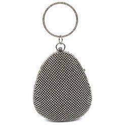 Torebki klasyczne damskie: Torebka w kolorze czarno-srebrnym – (S)16 x (W)19 x (G)7 cm