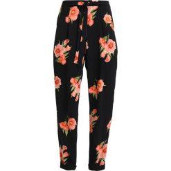 Spodnie z wysokim stanem: Dorothy Perkins TIE WAIST WOVEN Spodnie materiałowe black