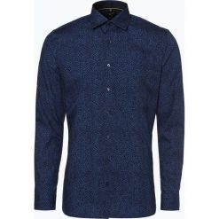 OLYMP No. Six - Koszula męska łatwa w prasowaniu, niebieski. Niebieskie koszule męskie na spinki marki OLYMP No. Six, m, w kolorowe wzory. Za 249,95 zł.