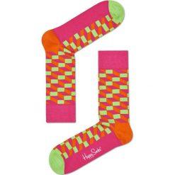 Happy Socks - Skarpety Filled Optic. Różowe skarpetki damskie Happy Socks, z bawełny. W wyprzedaży za 29,90 zł.