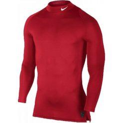 Nike Koszulka męska M NP TOP LS Comp MOCK czerwona r. L (838079 657). Czerwone koszulki sportowe męskie marki Nike, l. Za 119,00 zł.