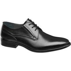 Buty wizytowe męskie: eleganckie buty męskie AM SHOE czarne