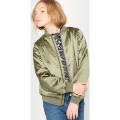 Satynowa kurtka typu bomber 10-16 lat. Brązowe kurtki chłopięce La Redoute Collections, z poliesteru, długie. Za 94,50 zł.