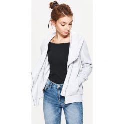 Bluza z kapturem - Jasny szary. Czarne bluzy z kapturem damskie marki DOMYOS, xl, z bawełny. Za 89,99 zł.