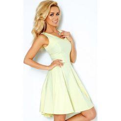 Sukienki: Marina Sukienka z koła – dekolt w kształcie serca – CYTRYNA