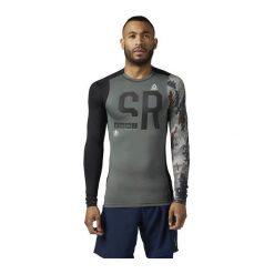 Reebok Koszulka męska SRM LS COMP Ironst szara r. XL (BR2077). Szare koszulki sportowe męskie Reebok, m. Za 160,08 zł.