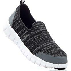 Buty wsuwane bonprix ciemnoszary. Szare buty sportowe damskie marki bonprix, z materiału. Za 74,99 zł.