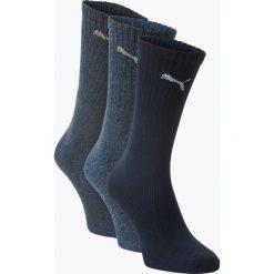 Puma - Skarpety męskie pakowane po 3 szt., niebieski. Niebieskie skarpetki męskie marki Puma, z bawełny. Za 34,95 zł.