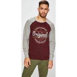 Jack & Jones - Bluza. Brązowe bluzy męskie rozpinane marki Jack & Jones, l, z nadrukiem, z bawełny, bez kaptura. W wyprzedaży za 99,90 zł.