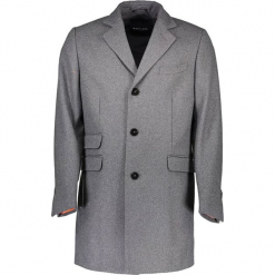 Płaszcz w kolorze szarym. Szare płaszcze na zamek męskie marki Guess, na zimę, m. W wyprzedaży za 1199,95 zł.