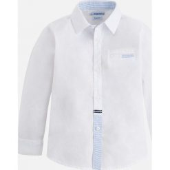 Mayoral - Koszula dziecięca 92-134 cm. Szare koszule męskie Mayoral, z bawełny, z klasycznym kołnierzykiem, z długim rękawem. Za 104,90 zł.