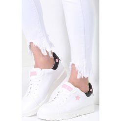 Buty sportowe damskie: Biało-Różowe Buty Sportowe Missing You