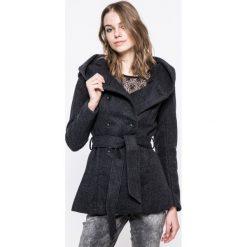 Only - Płaszcz. Czarne płaszcze damskie wełniane marki ONLY, l, z kapturem. W wyprzedaży za 219,90 zł.