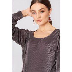 Bluzki asymetryczne: Saint Tropez Plisowana bluzka - Purple