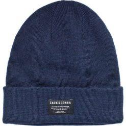 Jack & Jones - Czapka Beanie Noos. Czarne czapki zimowe męskie marki Jack & Jones, l, z bawełny, z klasycznym kołnierzykiem, z długim rękawem. W wyprzedaży za 29,90 zł.