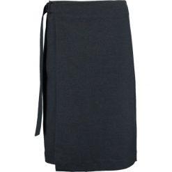 Spódniczki trapezowe: someday. OHMM Spódnica z zakładką slate grey melange
