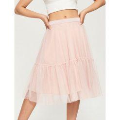 Spódniczki: Tiulowa spódnica z falbaną - Różowy