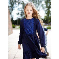 Sukienka Gaja. Niebieskie sukienki dziewczęce z falbanami Pakamera, w koronkowe wzory, z koronki. Za 115,00 zł.