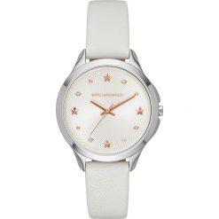 Zegarek KARL LAGERFELD - Karoline KL3014  Matte/Silver. Białe zegarki męskie KARL LAGERFELD. W wyprzedaży za 499,00 zł.