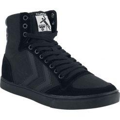 Hummel Stadil Tonal High Buty sportowe czarny. Czarne buty skate męskie marki Hummel, z aplikacjami, z materiału. Za 199,90 zł.