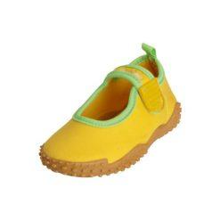 Playshoes  Buty do wody Aqua z UV 50+ żółty. Niebieskie buciki niemowlęce chłopięce marki Born2be, z materiału, z okrągłym noskiem, na obcasie. Za 59,00 zł.
