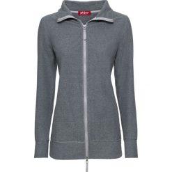 Bluzy damskie: Bluza rozpinana z polaru bonprix szaro-czarny w paski