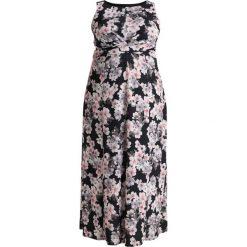 Długie sukienki: Evans EXCLUSIVE ROUCHED FRONT PRINT MAXI DRESS Długa sukienka navy