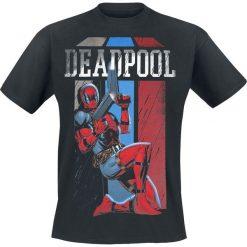 T-shirty męskie: Deadpool Retro Stripes T-Shirt czarny