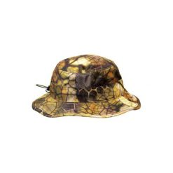 Kapelusz myśliwski BGS500D Camo Furtiv. Brązowe kapelusze damskie marki SOLOGNAC, z bawełny. Za 49,99 zł.