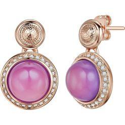 Kolczyki damskie: Pozłacane kolczyki-wkrętki z kryształkami Swarovski i perłą