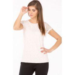 Bluzki damskie: Bluzka z koronkowym wzorem