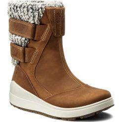 Botki ECCO - Noyce 83461302291 Cashmere. Brązowe buty zimowe damskie ecco, z materiału. W wyprzedaży za 439,00 zł.