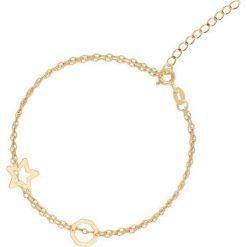 Wyjątkowa Złota Bransoletka - złoto żółte 375. Żółte bransoletki damskie na nogę W.KRUK, złote. Za 449,00 zł.