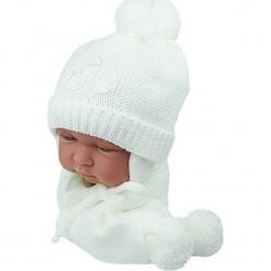 Czapka niemowlęca z szalikiem CZ+S 001D. Szare czapeczki niemowlęce Proman. Za 38,76 zł.