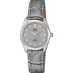 Zegarek Q&Q Damski QZ13-312 Klasyczny Cyrkonie szary. Szare zegarki damskie Q&Q. Za 127,80 zł.