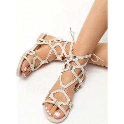 Rzymianki damskie: Beżowe Sandały Happy Day