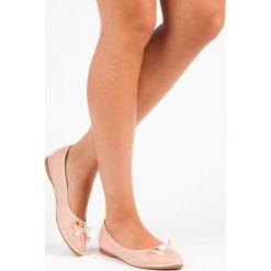 Baleriny damskie lakierowane: Eleganckie zamszowe baleriny JADE różowe